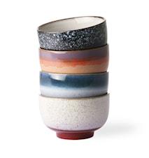 Ceramic 70's Noodle Skål 4 stk