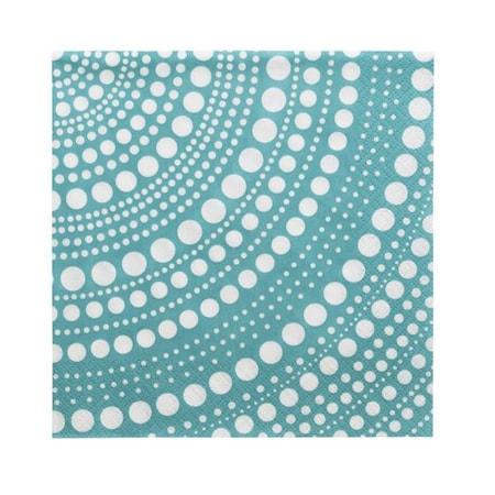 Kastehelmi servett Havsblå 33x33 cm