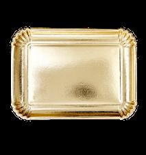 Uppläggningsfat 4-pack 25x35 cm Papper Guld