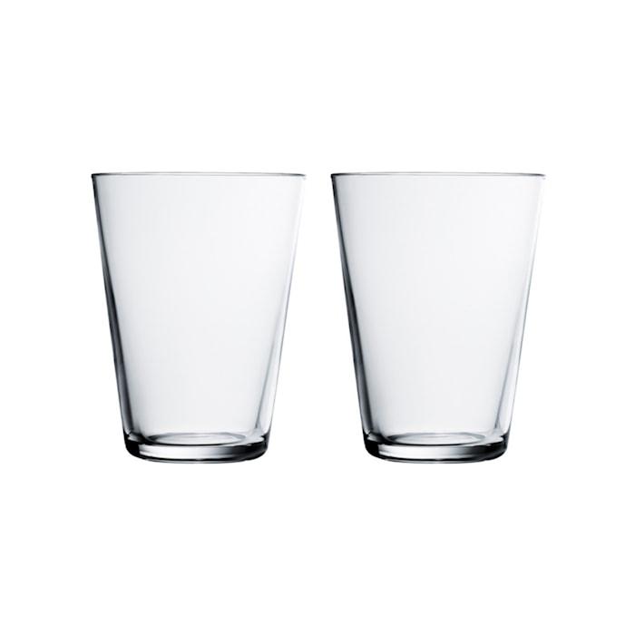 Kartio Glass Klar 40 cl 2-pakk