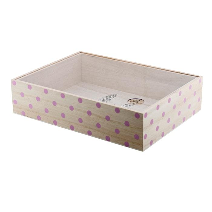 Opbevaringsbox Rosa Kejsertræ 30x7x22 cm