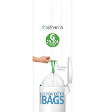 Rubbish bags G 23-30L [Dispenser Pack with 40 bags] White