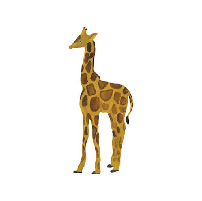 Väggdekoration Giraffe Yellow 25,5x58cm