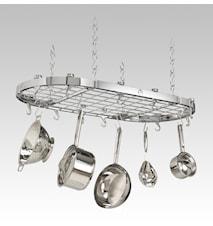 Hahn Premium oval takhenger 102x50 cm Krom