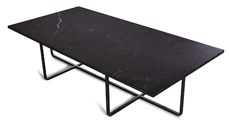 OX DENMARQ Ninety Table XL - Svart marmor/svartlackerad metallstomme H30 cm