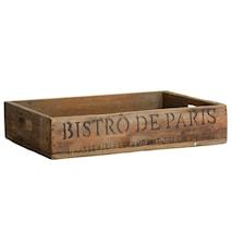 Wooden tray Bistro de Paris