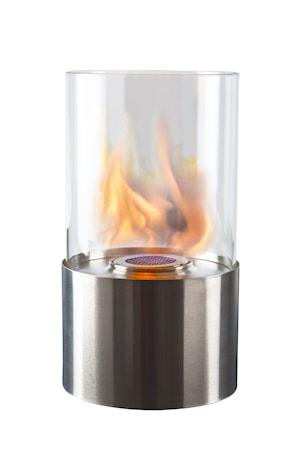 Lyhty pyöreä ruostumaton bioetanoli k 28 cm