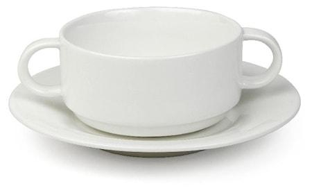 Suppeskål med håndtag
