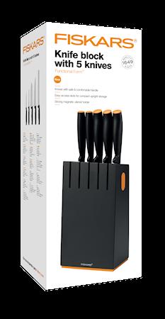 Functional Form Knivblock med 5 knivar Svart