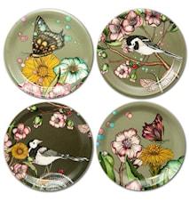 Nadja Wedin Design Glasunderlägg 11 cm Wagtails Spring