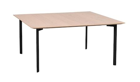 Spencer soffbord 95x95 svart ek/svart metall