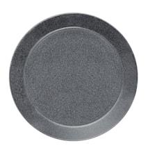 Teema lautanen 26 cm meleerattu harmaa