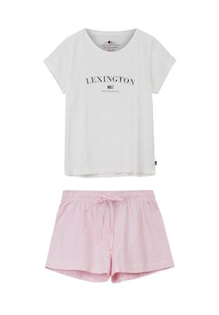 Organic Pyjamas Dam Pink/Vit Large