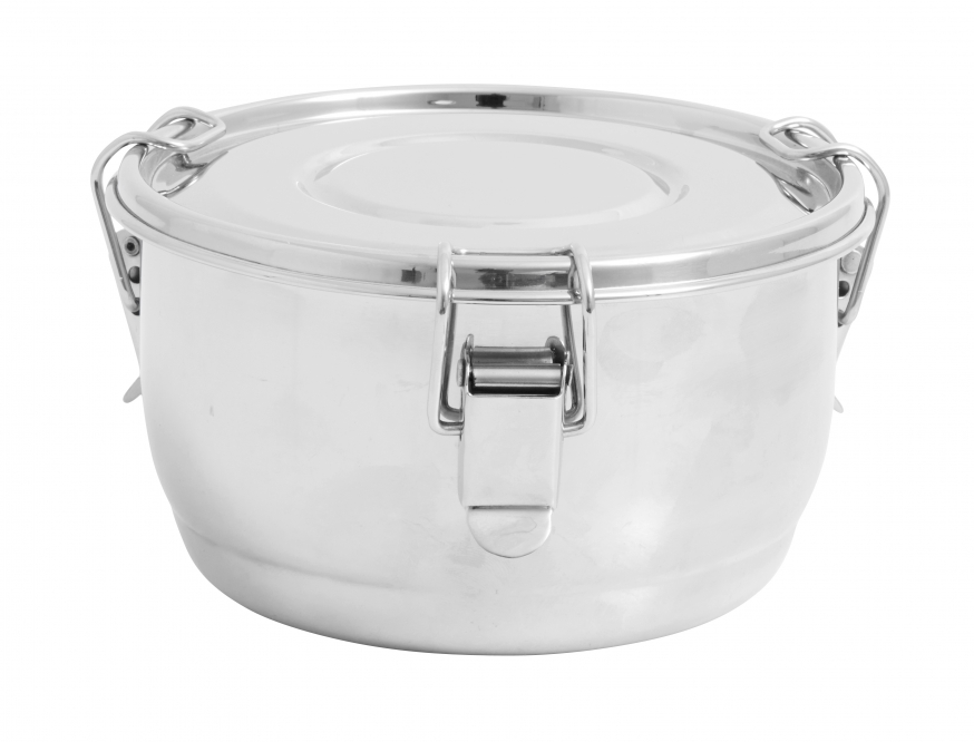 Lunch box round stainless steel