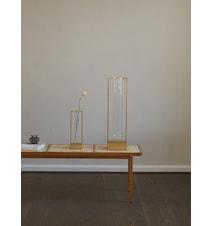Tate Stor Vase Glass og Messing