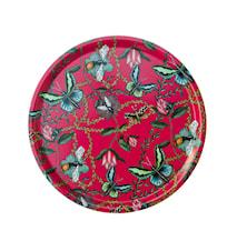 Nadja Wedin Design Dienblad 38 cm Bugs & Butterflies Cerise