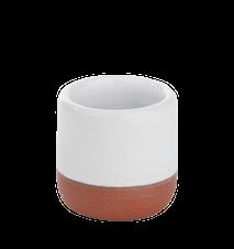 Eggeglass stengods ,hvit