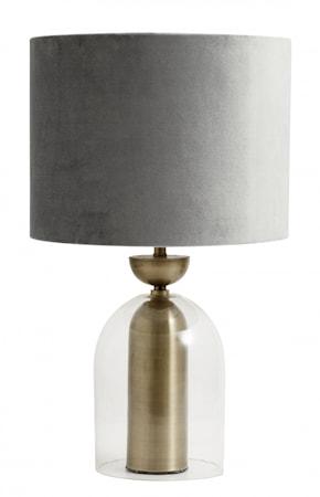 Bordslampa/Lamphållare Glas & Gyllene Metall 39cm