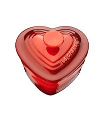 Ramekin Hjerte med Låg 0,25 l Cerise