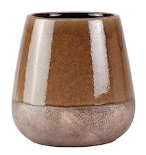 Kruka Keramik Brun 22x22cm