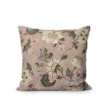 Kuddfodral Flower Linen 50x50 Dusty Pink