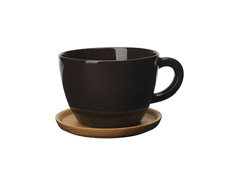 Höganäs Keramik Tekrusg 50 cl Med Träfat Bark Blank