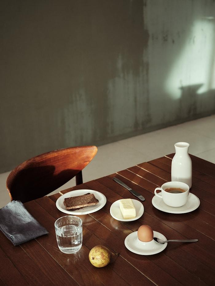 Tazzina da caffè Raami con piattino bianco