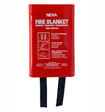 Nexa Fire & Safety FBD-120 Brandfilt Röd 120x120 cm Hårdbox
