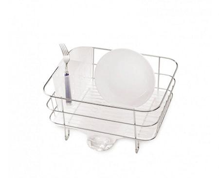 Diskställ Trådram Kompakt Borstat Stål/Frostad plast