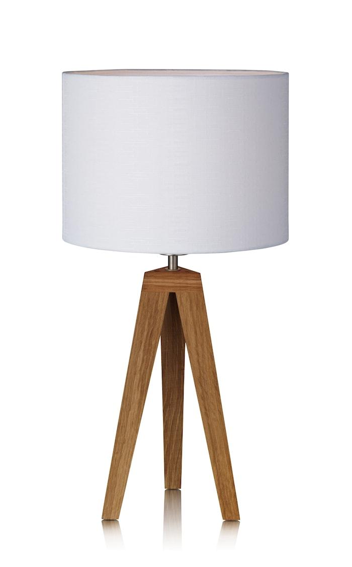 Kullen Bordlampe Eik/Hvit 28 cm