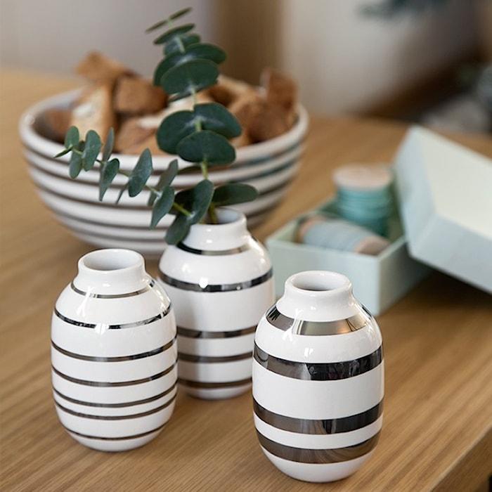 Omaggio maljakko mini 3-pack hopea