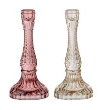 Lysestage Glas Ø 10 cm