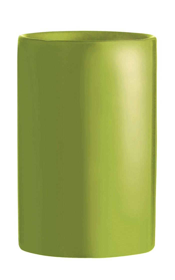Tandbørstekrus - Stentøj - Lime - Blank - D 7,0cm - H 11,0cm - 0,25l - Stk.