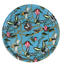Nadja Wedin Design Bricka 38 cm Bugs & Butterflies Turkos
