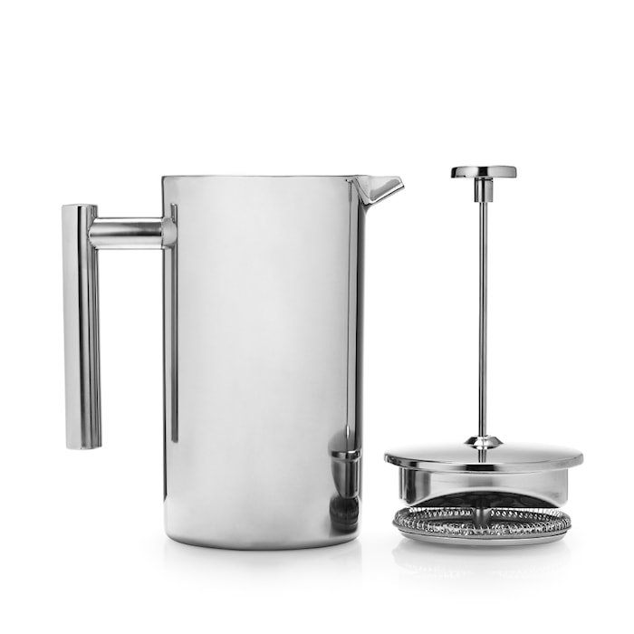 French Kaffepress 800 ml Rostfritt Stål Silver