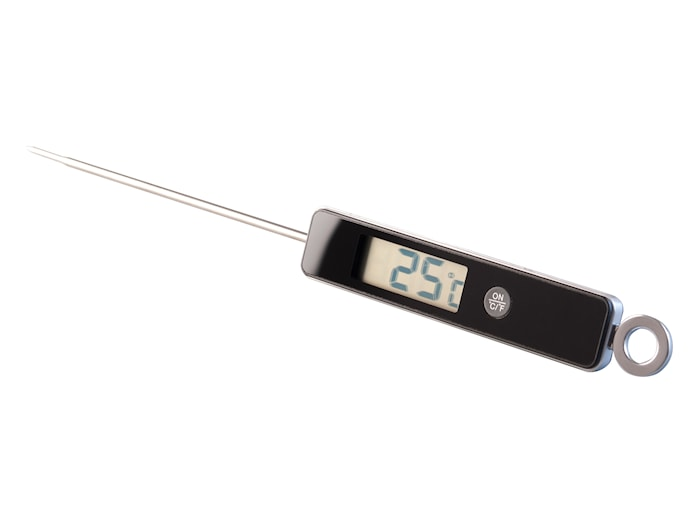 Digital Stektermometer Svart 26 cm