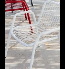 Stitch armchair stol - Vit