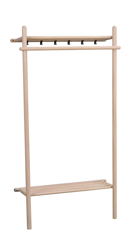 Milford Klädställning vitpigm Ek 90x180 cm