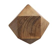 Nuppi Diamant M Natur Kierrätetty tiikki 12,5x12,5 cm