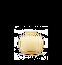 Primula Oval Vase Amber H 12,5 cm