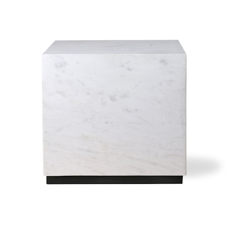 White Marmor block table L