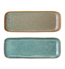 Aime Plate, Multi-color, Stoneware