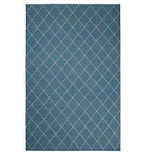 Diamond Dhurry Matta Ull Blå/Off White 184x280 cm