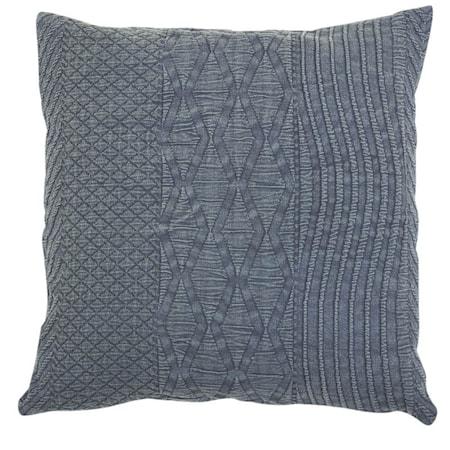 Pure voven Kuddfodral 50x50 - Blå