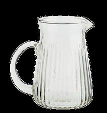Glass Pitcher with Stripes Clear 10x14cm