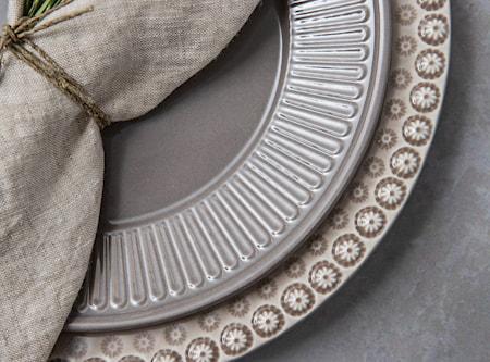 Fålhagen Lautaset, 4-pakkaus, 27 cm, Tummanharmaa
