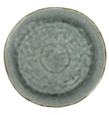Stor Middagstallrik Grå Krackelerad 32,5 cm