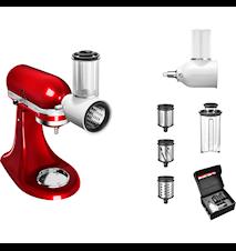 Tilbehørspakke til køkkenmaskine Hvid/Stål - Sæt med 5KSMFGA, 5KSMVSA og 5KSMF