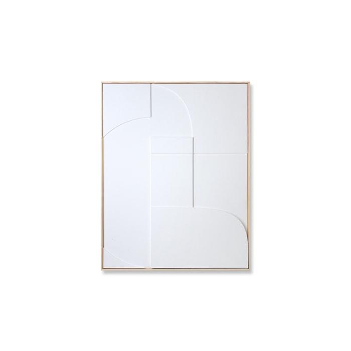 Framed Relief Art Panel White A Medium