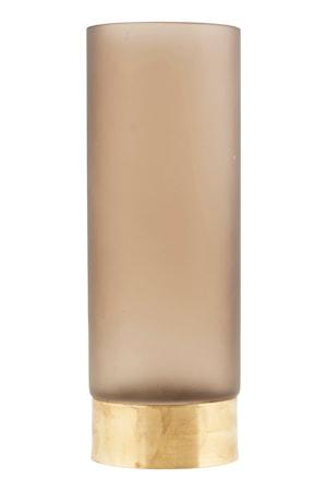 Vas Base Ø 10cm Ljusbrun/guld